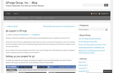 http://blog.gforgegroup.com/2010/04/15/git-support-in-gforge/