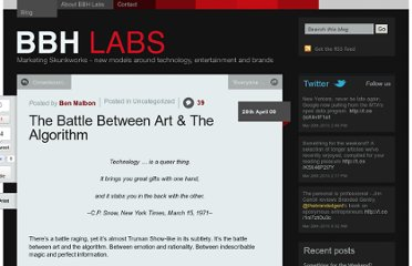 http://bbh-labs.com/the-battle-between-art-the-algorithm/