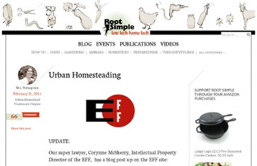 http://www.rootsimple.com/2011/02/urban-homesteading/