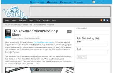 http://wpcandy.com/teaches/the-advanced-wordpress-help-sheet/#.UVhusNGI70M