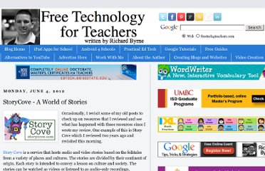 http://www.freetech4teachers.com/2012/06/storycove-world-of-stories.html#.UViA69GI70M