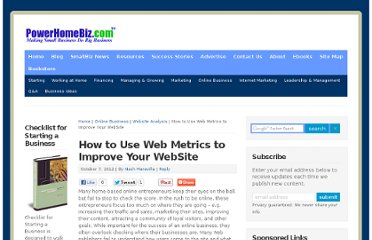 http://www.powerhomebiz.com/online-business/website-analysis/how-to-use-web-metrics.htm