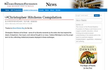 http://www.richarddawkins.net/videos/529709-christopher-hitchens-compilation