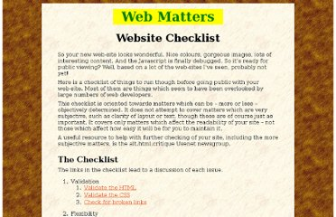 http://sbpoley.home.xs4all.nl/webmatters/checklist.html