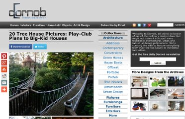 http://dornob.com/20-tree-house-pictures-play-club-plans-to-big-kid-houses/#axzz2P3alJqgc