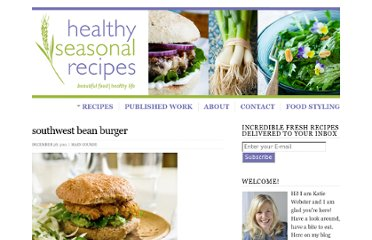 http://www.healthyseasonalrecipes.com/southwest-bean-burger/
