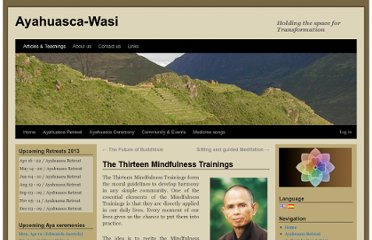 http://ayahuasca-wasi.com/the-thirteen-mindfulness-trainings/