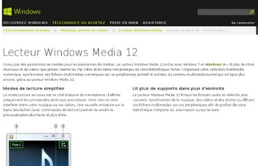 http://windows.microsoft.com/fr-fr/windows7/windows-media-player-12