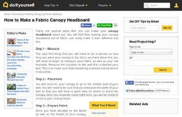 http://www.doityourself.com/stry/how-to-make-a-fabric-canopy-headboard#.UVi30dGI70M