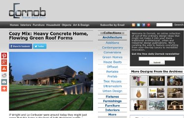 http://dornob.com/cozy-mix-heavy-concrete-home-flowing-green-roof-forms/#axzz2Oy582wVa