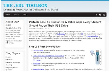 http://bestcollegerankings.org/2013/portable-edu-51-productive-petite-apps-every-student-should-put-on-their-usb-drive/