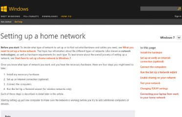 http://windows.microsoft.com/en-us/windows-vista/setting-up-a-home-network