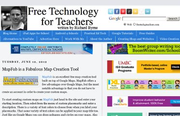 http://www.freetech4teachers.com/2012/06/mapfab-is-fabulous-map-creation-tool.html#.UVjYvtGI70M