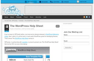 http://wpcandy.com/teaches/the-wordpress-help-sheet/