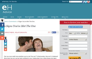 http://www.eharmony.com/dating-advice/relationships/9-signs-youve-met-the-one/#.UVjdvdGI70M