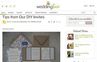 http://www.weddingbee.com/2009/12/17/tips-from-our-diy-invites/#axzz2PAaV4ECd