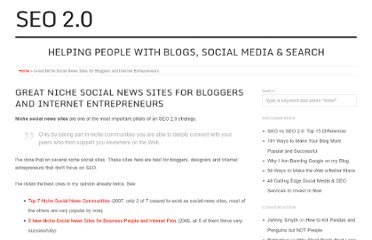 http://seo2.0.onreact.com/great-niche-social-news-sites-for-bloggers-and-internet-entrepreneurs