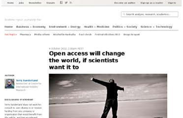 http://theconversation.com/open-access-will-change-the-world-if-scientists-want-it-to-8280