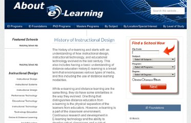 http://www.about-elearning.com/history-of-e-learning.html#.UVj2QtGI70M