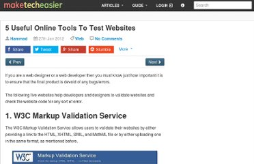 http://www.maketecheasier.com/5-useful-online-tools-to-test-websites/2012/01/27