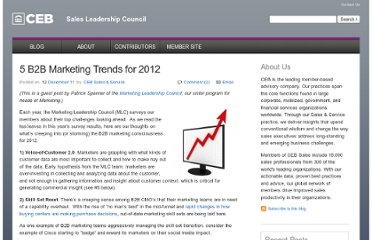 http://www.executiveboard.com/sales-blog/5-b2b-marketing-trends-for-2012/