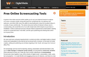 http://www.jiscdigitalmedia.ac.uk/guide/free-online-screencasting-tools/