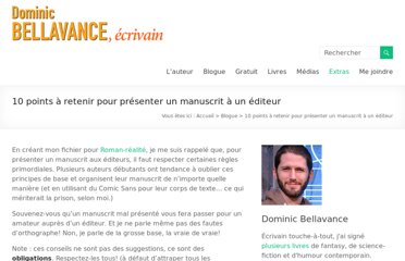 http://www.dominicbellavance.com/10-points-a-retenir-pour-presenter-un-manuscrit-a-un-editeur/