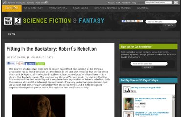 http://sf-fantasy.suvudu.com/2011/04/filling-in-the-backstory-roberts-rebellion.html