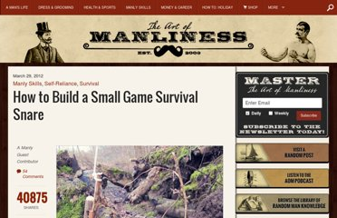 http://www.artofmanliness.com/2012/03/29/how-to-build-a-small-game-survival-snare/