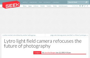http://www.geek.com/gadgets/lytro-light-field-camera-refocuses-the-future-of-photography-1394397