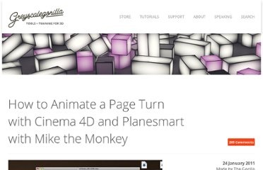 http://greyscalegorilla.com/blog/tutorials/how-to-animate-a-page-turn-with-cinema-4d-and-planesmart-with-mike-the-monkey/