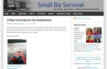 http://smallbizsurvival.com/2011/04/21-ways-to-use-video-for-your-small.html