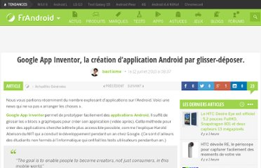 http://www.frandroid.com/developpement/24500_google-app-inventor-la-creation-dapplication-android-par-glisser-deposer