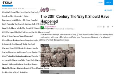 http://io9.com/5331614/the-20th-century-the-way-it-should-have-happened