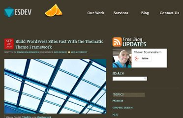 http://esdev.net/build-wordpress-sites-fast-with-the-thematic-theme-framework/#.UVlVTNGI70M