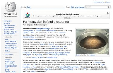 http://en.wikipedia.org/wiki/Fermentation_in_food_processing