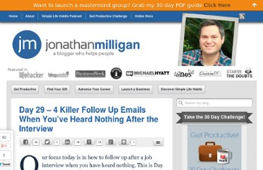 http://www.jonathanmilligan.com/4-killer-follow-up-emails-when-youve-heard-nothing-after-the-interview/