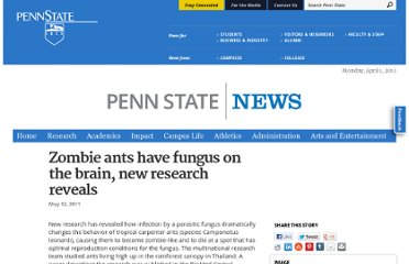 http://news.psu.edu/story/158085/2011/05/12/zombie-ants-have-fungus-brain-new-research-reveals