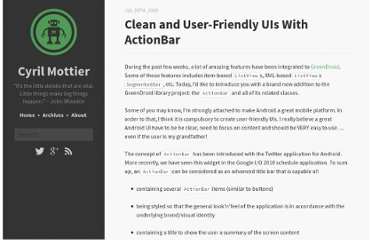 http://cyrilmottier.com/2010/07/20/clean-and-user-friendly-uis-with-actionbar/