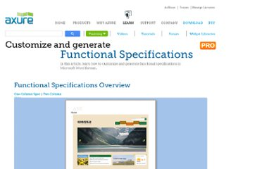 http://www.axure.com/learn/spec/functional-specifications