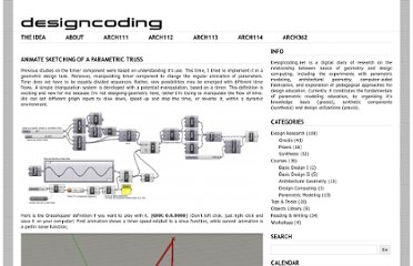 http://www.designcoding.net/animate-sketching-of-a-parametric-truss/
