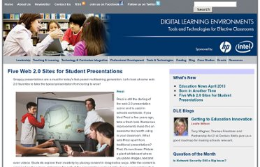 http://www.guide2digitallearning.com/tools_technologies/five_web_20_sites_student_presentations