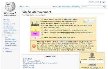 http://en.wikipedia.org/wiki/Talk:Salafi_movement