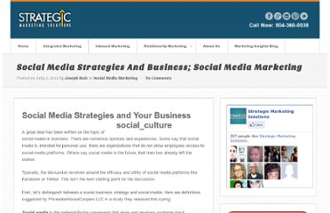http://www.strategicdriven.com/marketing-insights-blog/social-media-strategies-and-business-social-media-marketing/