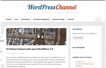 http://wpchannel.com/10-themes-frameworks-pour-wordpress-3-0/