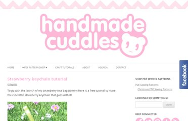 http://handmadecuddles.com/?br=http://toastiestudio.blogspot.com/2011/05/strawberry-keychain-tutorial.html