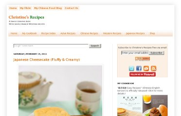 http://en.christinesrecipes.com/2011/02/japanese-cheesecake-fluffy-creamy.html#.UVnIzdGI70M