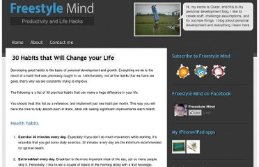 http://freestylemind.com/30-habits-that-will-change-your-life