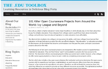 http://bestcollegerankings.org/2013/101-killer-open-courseware-projects-from-around-the-world-ivy-league-and-beyond/