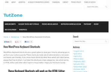 http://tutzone.net/2010/07/new-wordpress-keyboard-shortcuts.html
